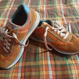 Kangaroos Orange & Blue Sneakers Women's 9